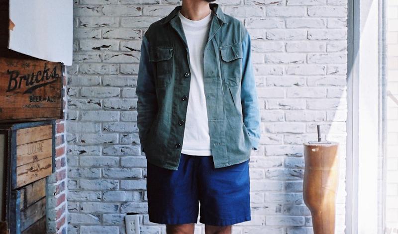 商品の紹介:ポルトガル ミリタリーシャツ × 1970′s デニムシャツ