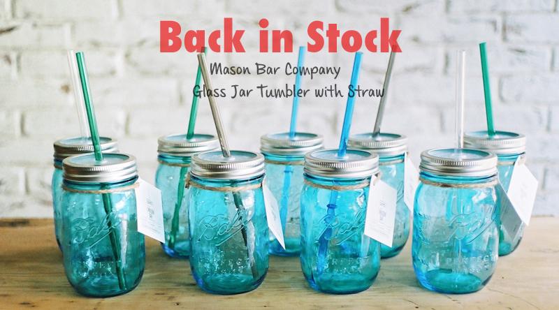 再入荷:メイソンジャー  ストロータンブラー(Mason Bar Company)