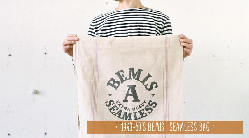 商品入荷:デッドストック 1940~50年代 BEMIS バッグ