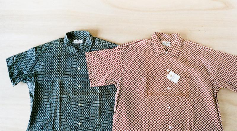 商品の紹介:デッドストック S/S 小紋柄シャツ