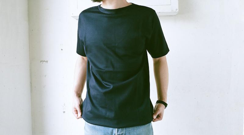商品の紹介:イタリア軍  ニット編み ネイビーTシャツ