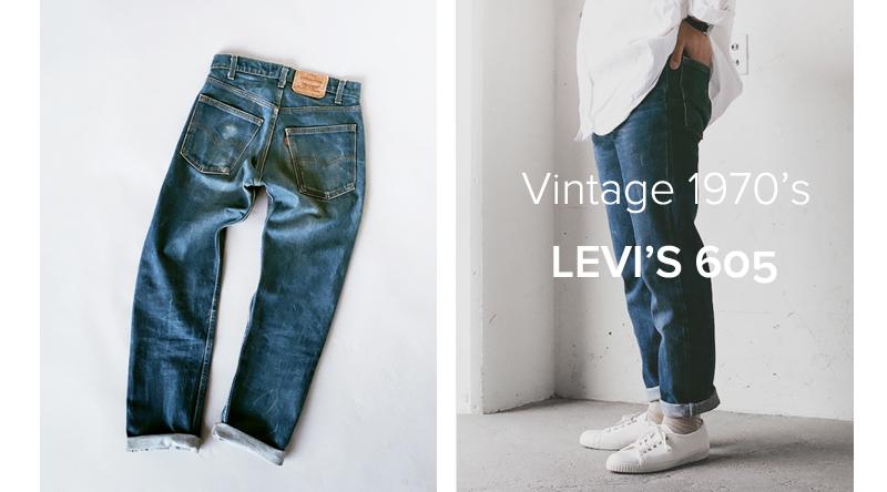商品の入荷:ビンテージ Levis 605 テーパードデニム