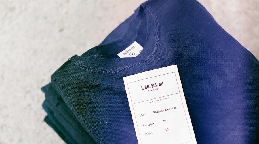 商品の再入荷:イタリア軍 デッドストック レーヨン/コットンTシャツ