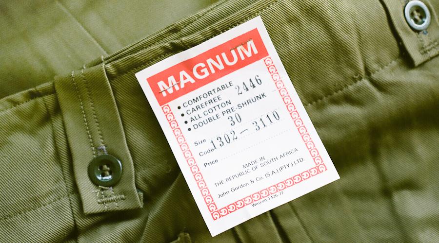 商品の入荷:デッドストック 1970年代 マグナム 南アフリカ製 カーゴパンツ