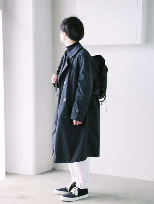 US Trench Coat Blk-5