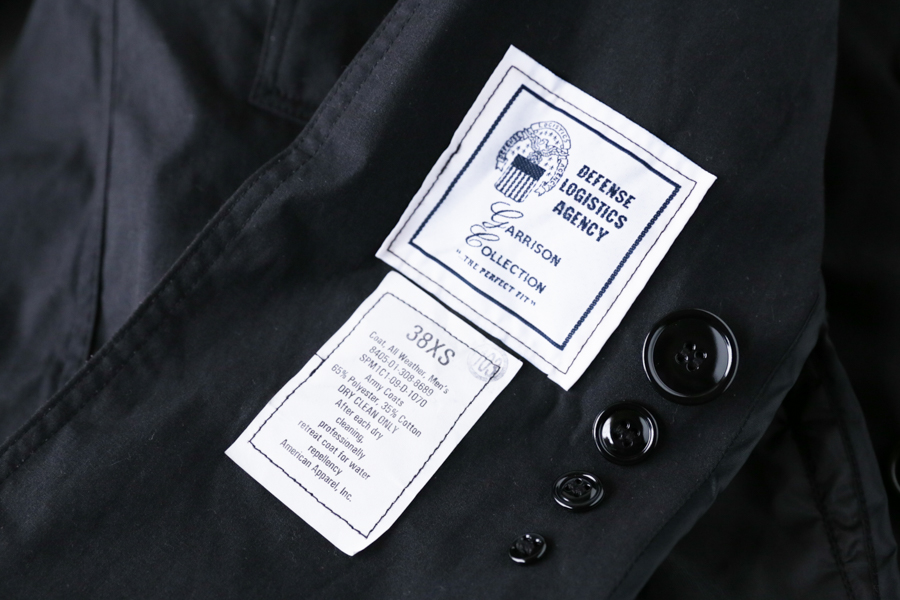 US Trench Coat Blk-9