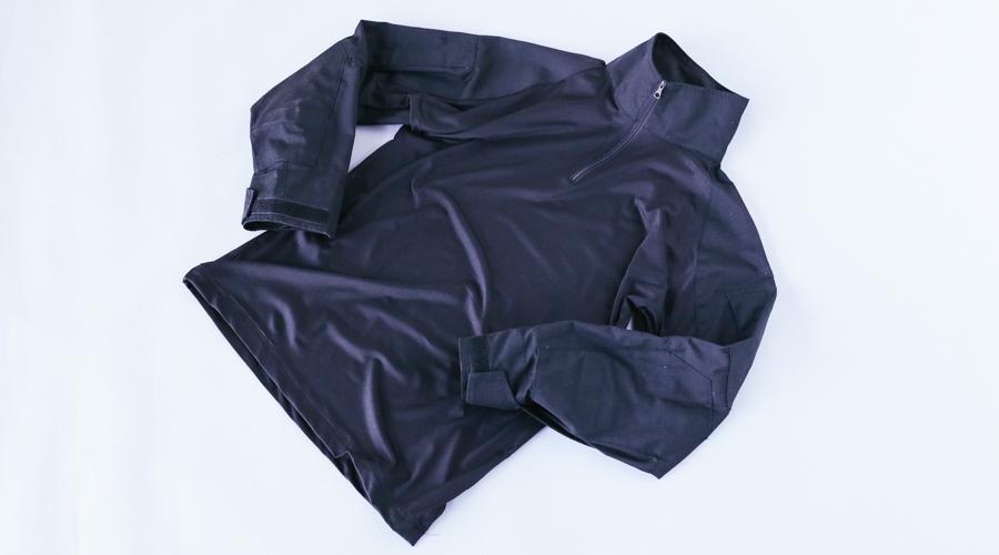 Military zip Blk Shirt-4
