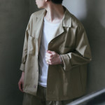 商品の入荷:デッドストック スウェーデン軍 ワイドワークシャツ