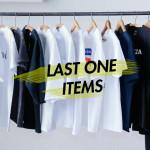 倉庫よりラスト一点のTシャツなど並びます。