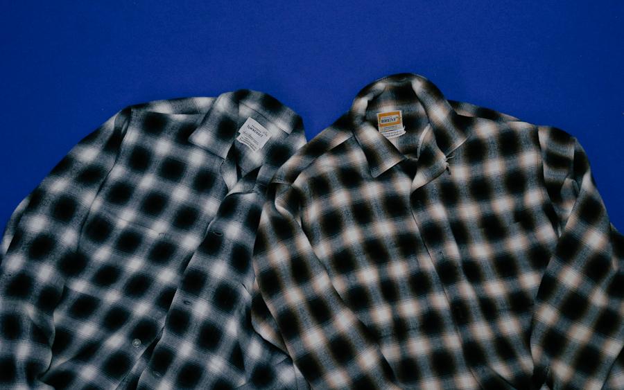 商品の入荷:ビンテージ 1960年代 オンブレチェックシャツ
