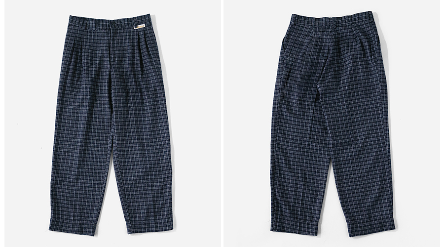 Wook Check Patetrn Trousers-2