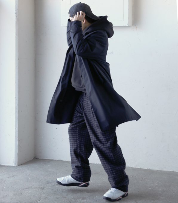Wook Check Patetrn Trousers-4