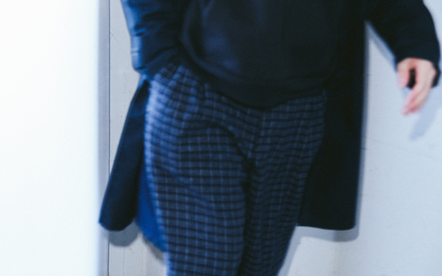 Wook Check Patetrn Trousers-6