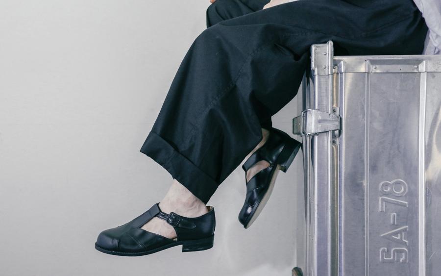 Gurkha leather sandals-1