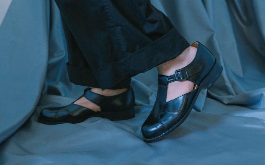 Gurkha leather sandals-6