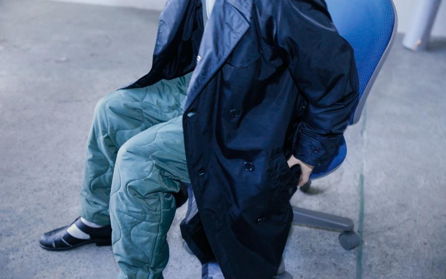 商品の入荷:ビンテージ デッドストック イタリア軍 ナイロン トレンチコート